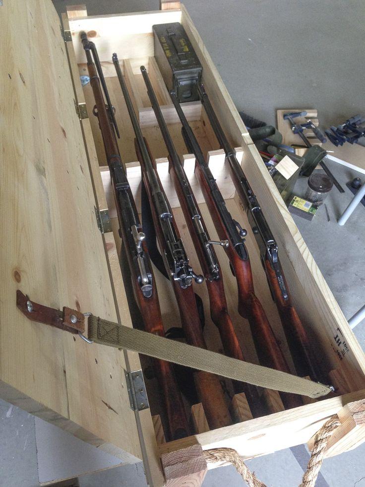homemade gun chest