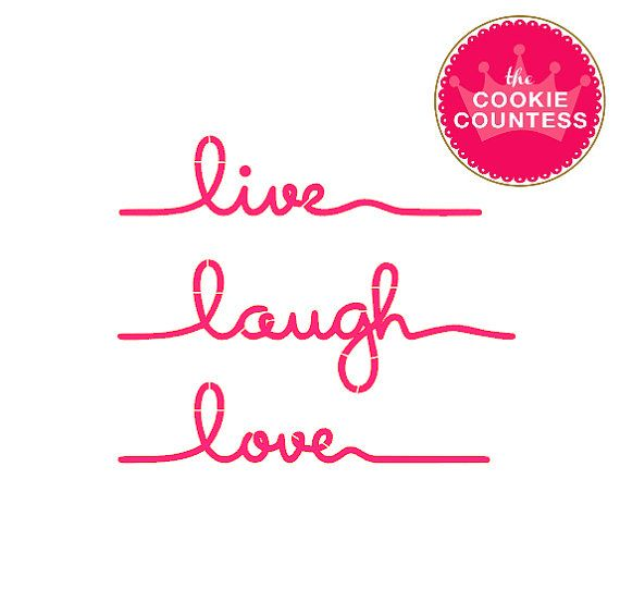 Live Laugh Love Mini Stencil By Thecookiecountess On Etsy