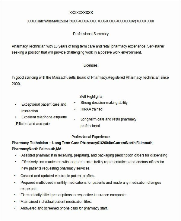23 Pharmacy Technician Job Description Resume In 2020 Pharmacy