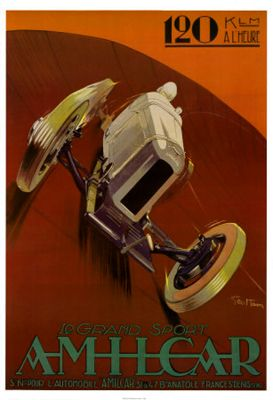 AMILCAR CGSS Vintage Sportscar Auto Racing Poster Reprint (c.1927)