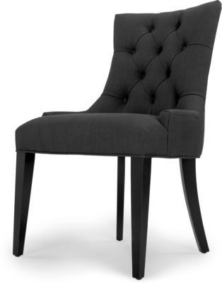 Flynn Scoop Back Chair, Midnight Black from made.com