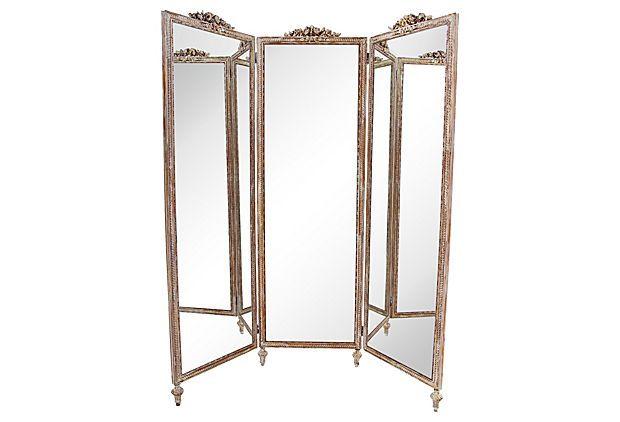 3 panel floor mirror
