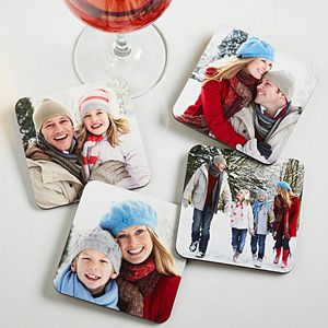 Create a unique gift from your favorites photos with the Picture Perfect Personalized Bar Coaster Set. Find the best personalized photo gifts at PersonalizationMall.com