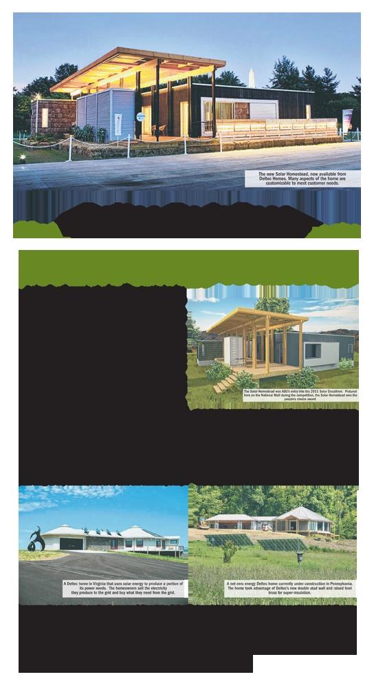 Asheville Based Homebuilder Deltec Homes This Week Began Offering  Appalachian State Universityu0027s Solar Homestead U2014