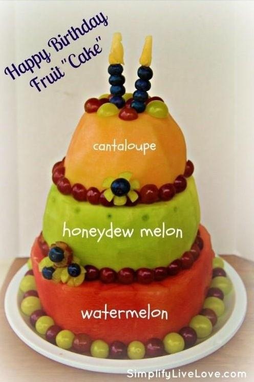 Fruit birthday cake