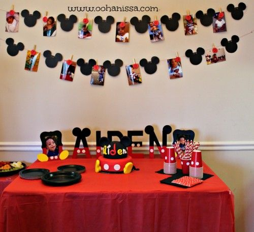 Mickey Mouse Timeline Mickey Mouse Birthday Party Ideas at www.oohanissa.com