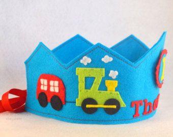 Birthday Crown Felt Crown Balloons por pixieandpenelope en Etsy