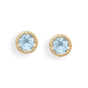 14K Gold Blue Topaz Earrings on Emma Stine Limited...<3 blue topaz.