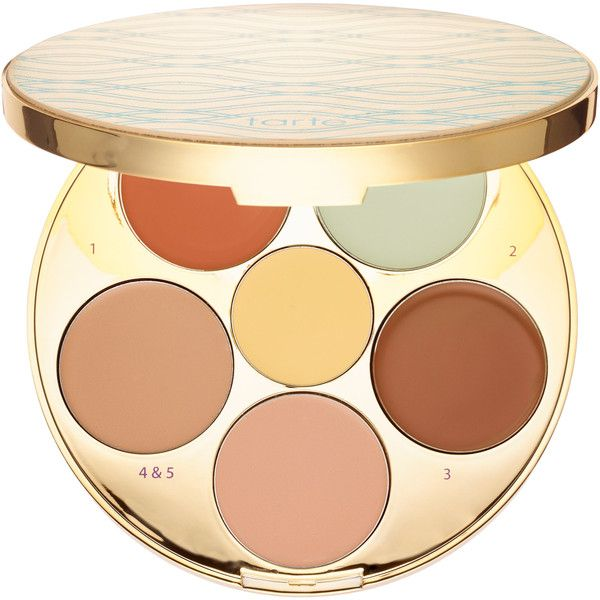 tarte Rainforest of the Sea Wipeout Color-Correcting Palette found on Polyvore featuring beauty products, makeup, face makeup, cosmetics, tarte cosmetics, palette makeup, tarte makeup, dark circles makeup and tarte