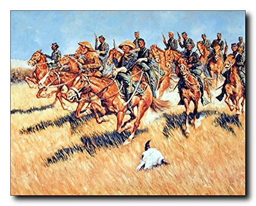 Add a piece of history to your home today with this wall poster. This western inspired art print poster which depicts the image of western cavalry into battle wild west art print poster will bring unique artwork to any room of your home. We made these posters by using high quality papers with high degree of color accuracy which guarantees that your posters last a lifetime without fading.