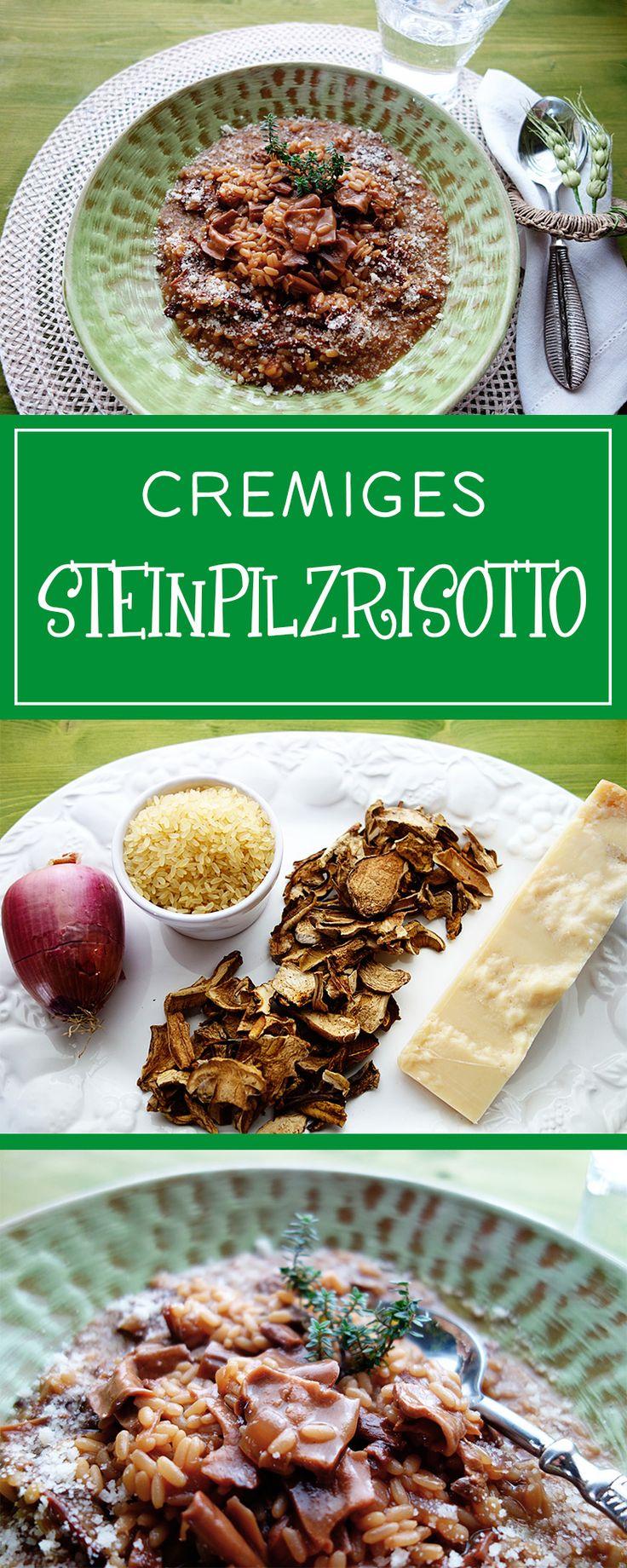 Cremiges Steinpilzrisotto - einfach gemacht & ein beeindruckendes Gericht, das dank getrockneter Steinpilze in jede Jahreszeit passt. Herrlich italiensch!!  | cucina-con-amore.de