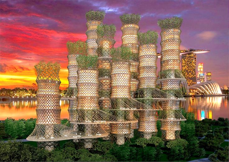 CRG Architects' unique bamboo skyscraper spirals up into the clouds | Inhabitat - Sustainable Design Innovation, Eco Architecture, Green Building