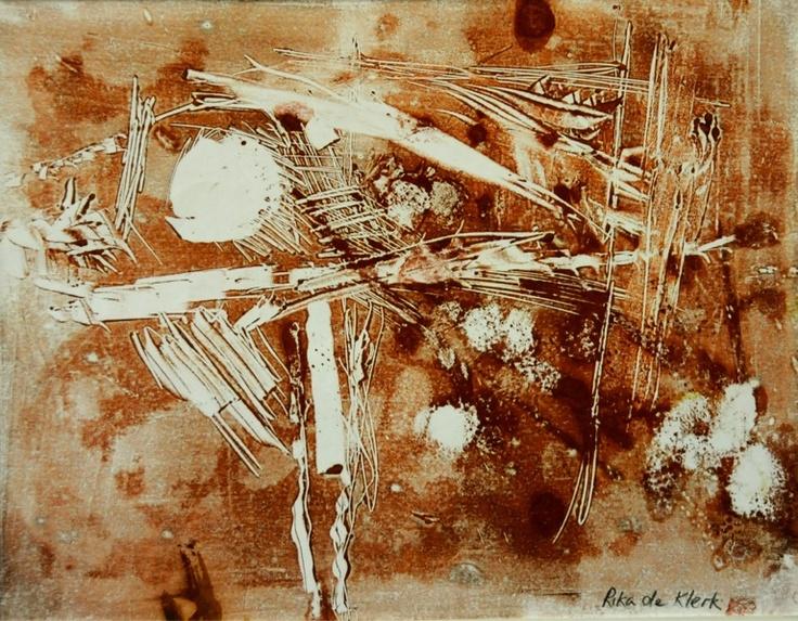 Monoprint. By Rika De Klerk