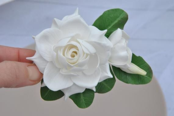 Gardenia Flower Hair Clip White Hair Piece Etsy Flowers In Hair Flower Hair Clips Wedding Hair Clips
