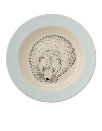 Dětský polévkový talíř Adelynn - medvěd