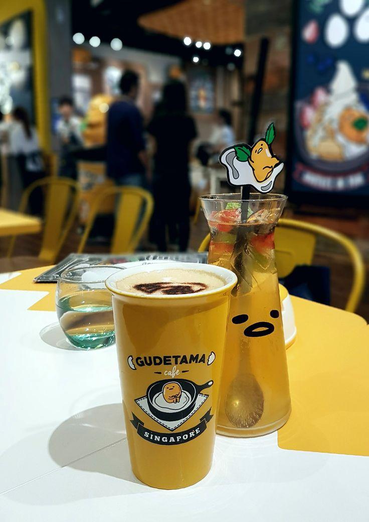 """""""Latte & Hula Hula"""", Gudetama Cafe, Singapore"""