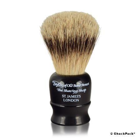 Als Grundlage für einen weichen, cremigen Schaum garantiert der Taylor of Old Bond Street Travel Super Badger Shaving Brush ein rundum wohltuendes Rasiererlebnis.