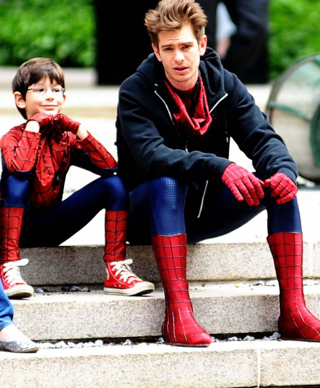 Andrew Garfield. Awesome Spiderman moments.