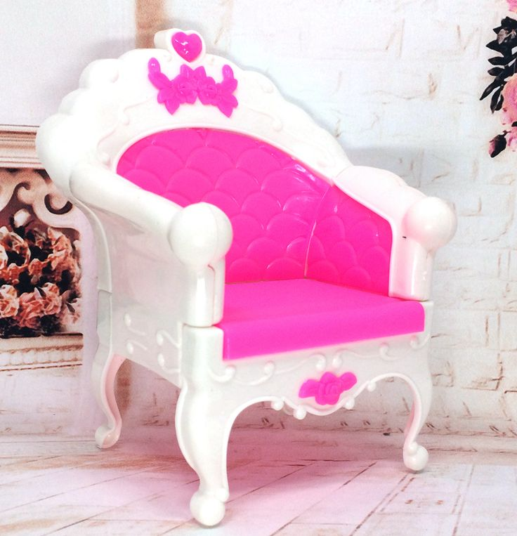 NK One Pcs Doll Plastic  Accessories Fashion Style Princess Dream house Chair Sofa Armchair Furniture For Barbie Doll Best Gift
