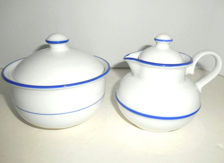 Vintage DANSK BRASSERIE Provence Creamer Sugar Bowl w/ Lids Refsgaard Japan MINT #Dansk #MidCenturyModern