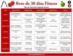 PLAN NUTRICIONAL PARA BAJAR DE PESO | SEGUNDA SEMANA | Reto de 30 días Fitness