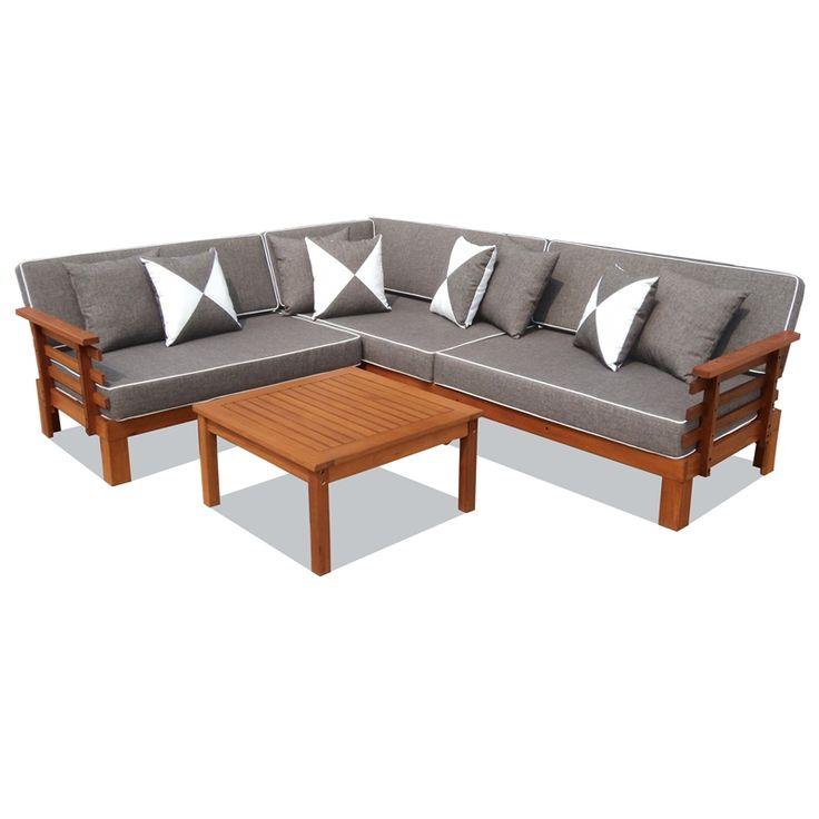 Mimosa 'Fresco' Corner Sofa Setting I/N 3240550 | Bunnings Warehouse