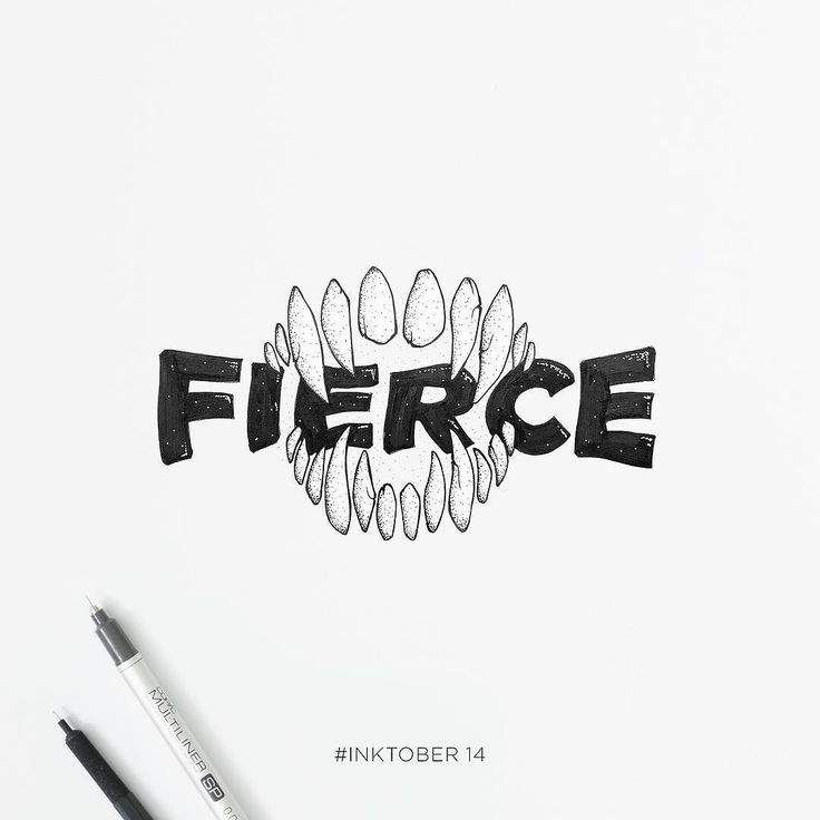 Fierce. #inktober 14.