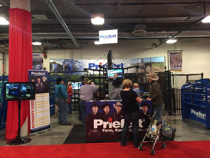 Priefert Autograph Table at the Sands Convention Center 2015