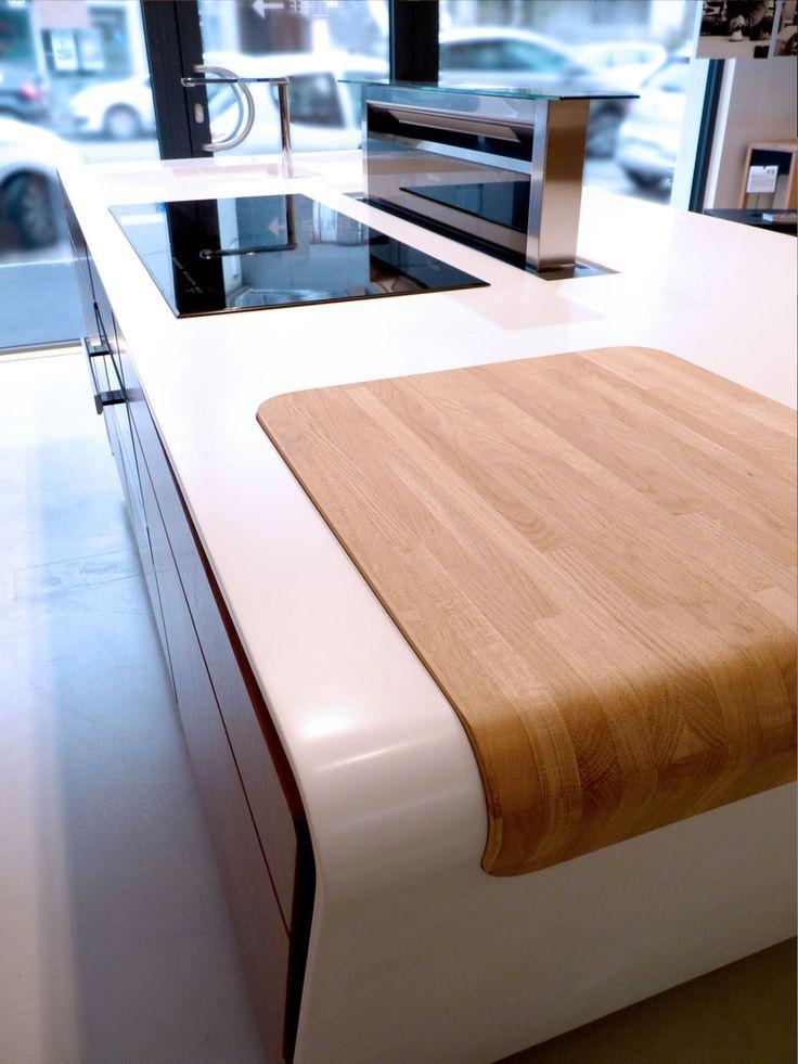 25 best ideas about plan de travail on pinterest deco cuisine cuisine design and credence - Credence corian ...