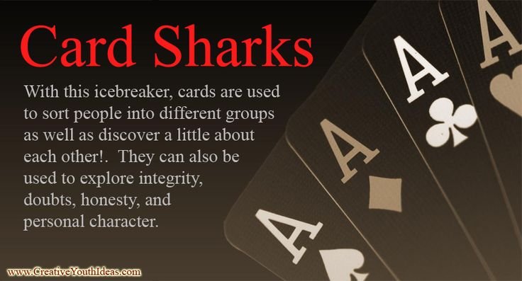 Decks of cards are easy to find. And everyone knows a card game or two. With this icebreaker, cards are used to sort people into different groups as well as discover a little about each other! They can also be used to explore integrity, doubts, honesty, and personal character.