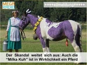 Skandal! Die Milka-Kuh ist ein Pferd ...