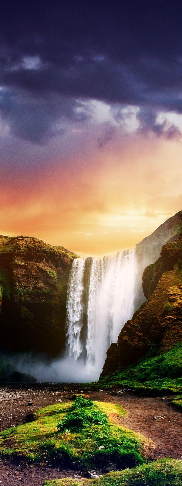 Skogafoss waterfall, Iceland                                                                                                                                                                                 More