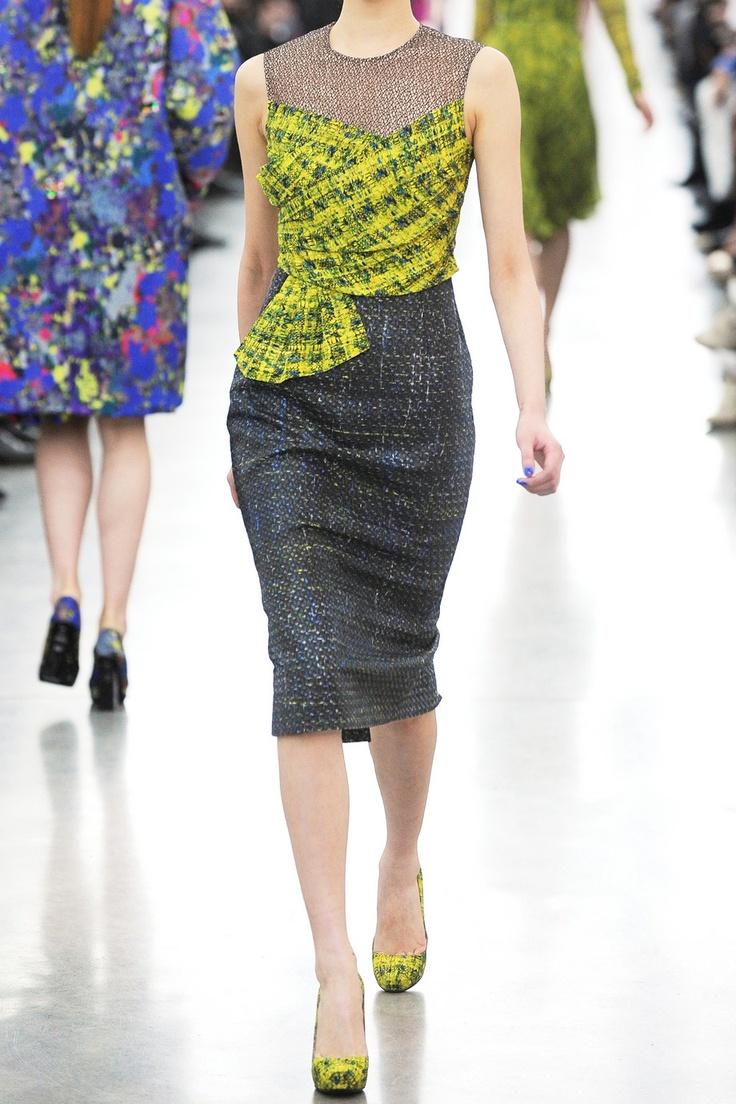 Erdem   Courtney voile y el vestido de tweed   NET-A-PORTER.COM