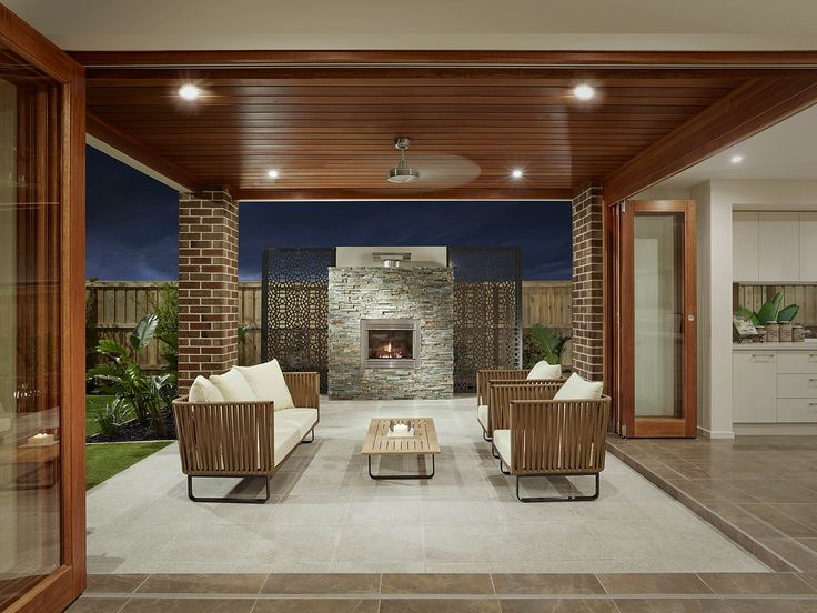 The #Monaco36 integrates #outdoor living with the #openplan #kitchen, #dining and living area with timber bi-fold doors.  View floor plans and custom design: http://www.boutiquehomes.com.au/home-design-group/monaco