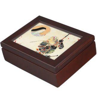 Tomioka Eisen Samurai Warrior Classic japanese art Keepsake Box