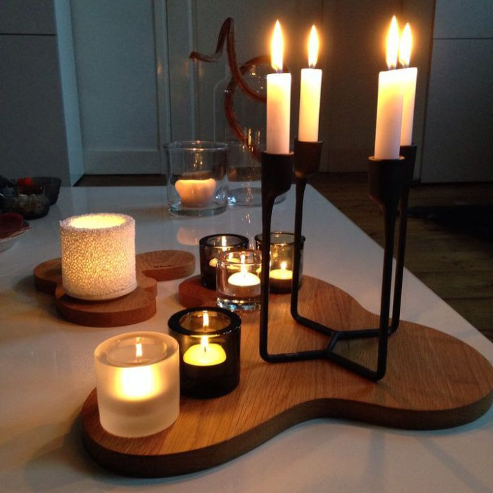 Get great ideas on Scandi mood lighting and candles.