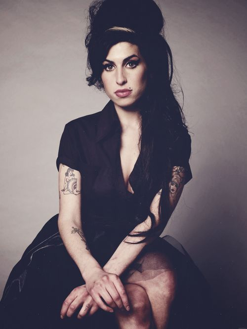 Amy Winehouse 1983 - 2011. British Jazz and Soul singer. She died at the age of 27. We miss her beautiful music and voice.  www.afternote.com