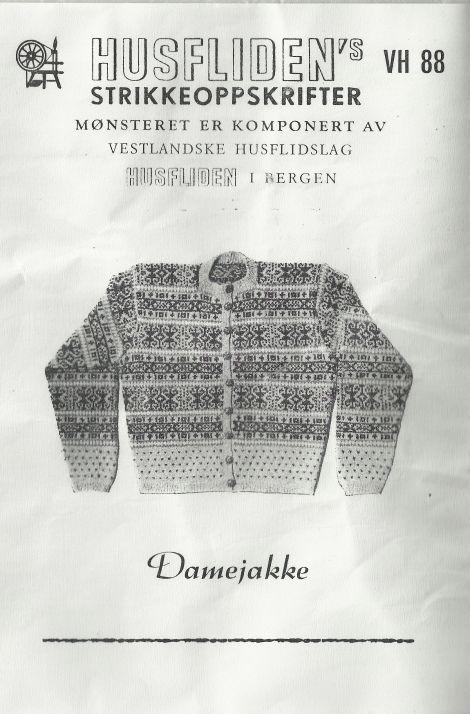 50-tallsjakke (in Norwegian with chart)