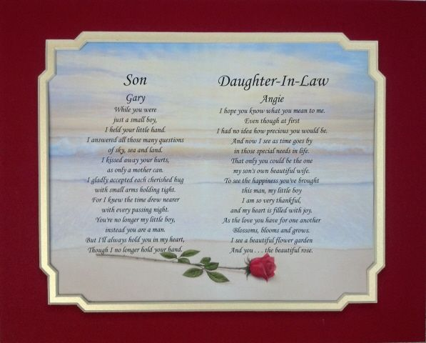 Daughter In Law Personalized Poem: 17 Best Images About DAUGHTER IN LAW On Pinterest