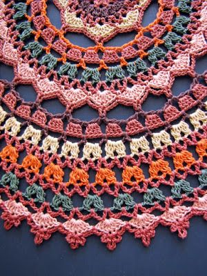 Autumn Spice Mandala Doily - free crochet pattern by Elizabeth Ann White for BellaCrochet.