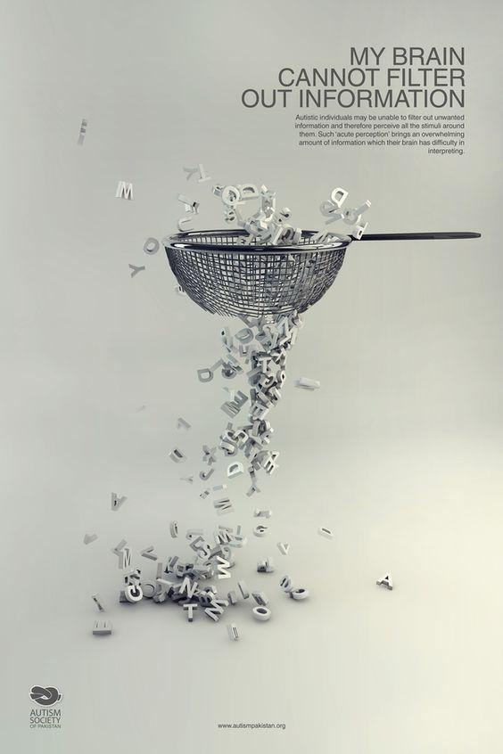 Autism Society Ad. Beautiful Minimalist Print Ads. www.momentum18.com/blog/beautiful-minimalist-print-ads/