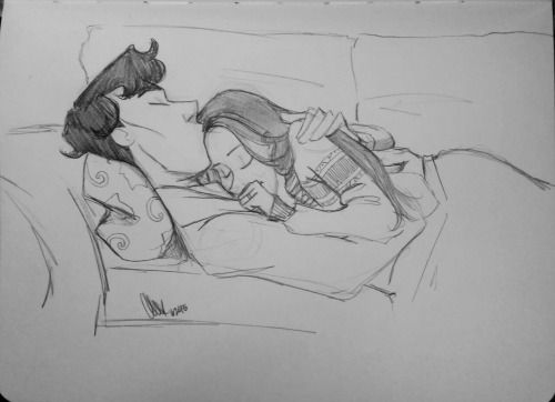 Lexie sometimes draws • blubblubcarlieze requested late night Sherlolly...