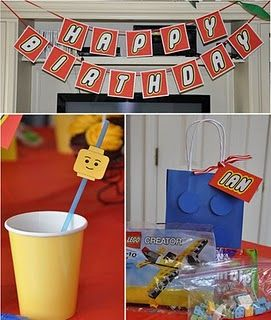 legoThemed Birthday Parties, Theme Parties, Lego Theme, Lego Parties, Lego Birthday, Parties Ideas, Parties Theme, Party Ideas, Birthday Ideas