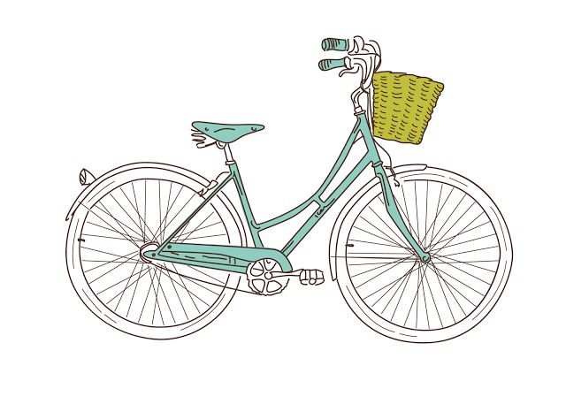 blue bike free printable
