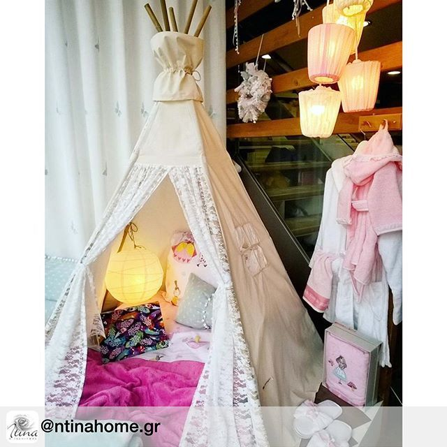 "Our ""pure lace"" #teepee  #teepeelicious #glamping #tipi #happykids #homedecor #homedecoration #kidsinterior #kidsinspo #kidsroominspo #girlroomdecor #lace #lights #giftideas #eventinspo #eventideas #barnrum #nurserydecor #pillows"