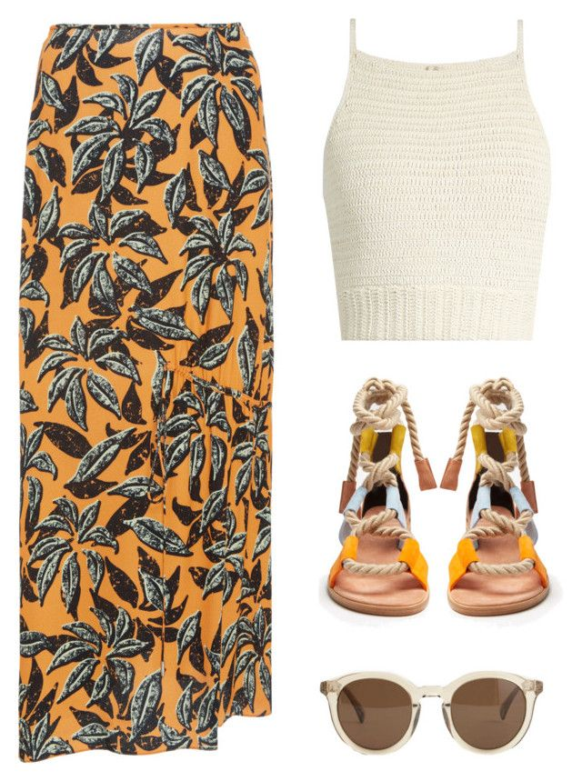 """tropical"" by carolinejbrooks ❤ liked on Polyvore featuring SHE MADE ME, Pierre Hardy, Edun and J.Crew"