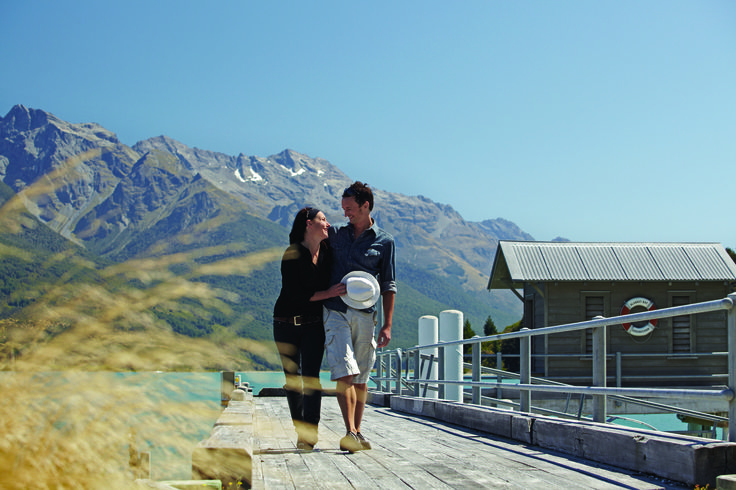 A Romantic stroll through the Blanket Bay grounds, Glenorchy, New Zealand