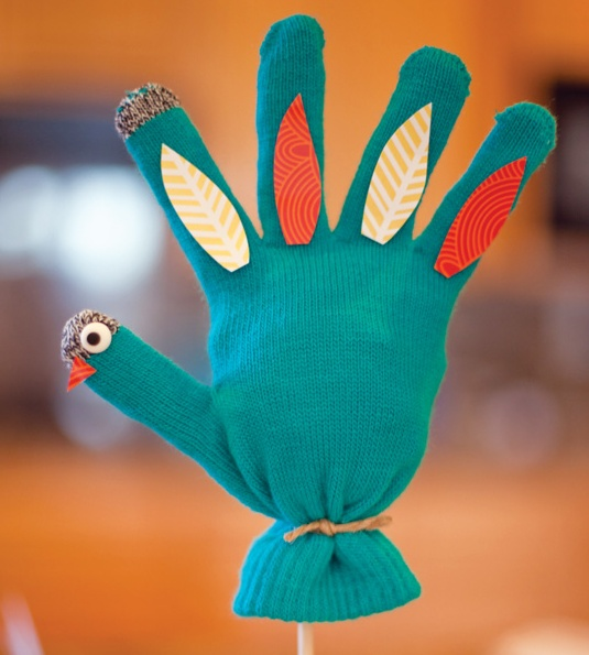 Stuffed glove turkey