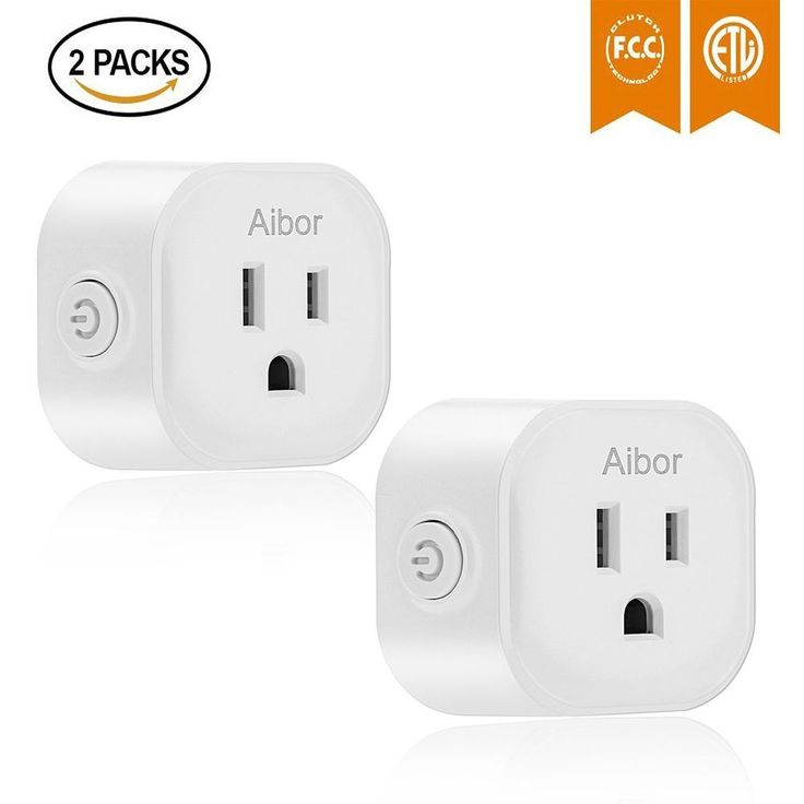 Smart Mini Wifi Plug Wireless RC Remote Control Electrical Outlet No Hub 2 Pack #Aibor
