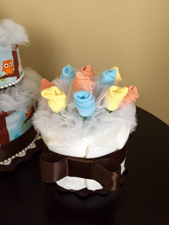 Sock bouquet mini diaper cake roses by